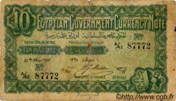 10 Piastres ÉGYPTE  1917 P.160b B