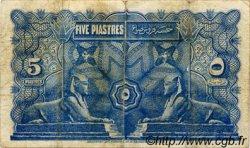 5 Piastres ÉGYPTE  1918 P.162 B+