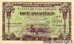 5 Piastres ÉGYPTE  1918 P.162 SPL