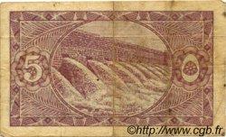 5 Piastres ÉGYPTE  1940 P.163 TB+