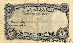 5 Piastres ÉGYPTE  1940 P.164 TB
