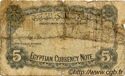 5 Piastres ÉGYPTE  1940 P.165a B