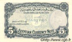 5 Piastres ÉGYPTE  1940 P.165b NEUF