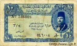 10 Piastres ÉGYPTE  1940 P.168a pr.TTB