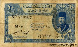 10 Piastres ÉGYPTE  1940 P.168b pr.TB