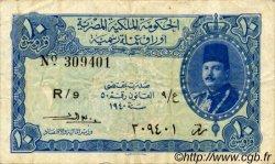10 Piastres ÉGYPTE  1940 P.168b TB