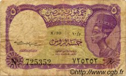 5 Piastres ÉGYPTE  1952 P.174a TB