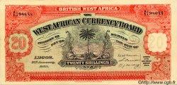 20 Shillings AFRIQUE OCCIDENTALE BRITANNIQUE  1928 P.08aX SUP+