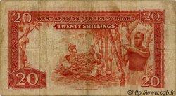 20 Shillings AFRIQUE OCCIDENTALE BRITANNIQUE  1953 P.10a pr.TB