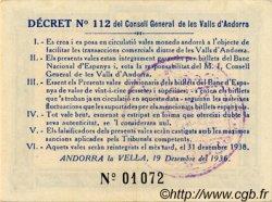 2 Pessetes ANDORRE  1936 P.02 pr.SPL