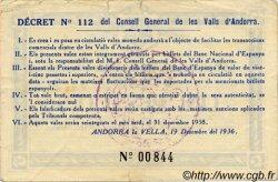 5 Pessetes bleu ANDORRE  1936 P.03 TTB