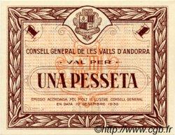 1 Pesseta ANDORRE  1936 P.06 NEUF