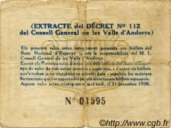 2 Pessetes ANDORRE  1936 P.07 TB