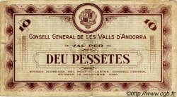 10 Pessetes ANDORRE  1936 P.09 B+