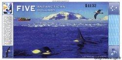 5 Dollars ANTARCTICA  1996 P. NEUF