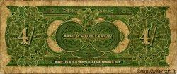 4 Shillings BAHAMAS  1919 P.02a B+