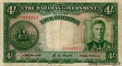 4 Shillings BAHAMAS  1936 P.09a TB