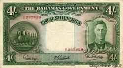 4 Shillings BAHAMAS  1936 P.09e TTB