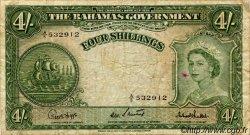 4 Shillings BAHAMAS  1953 P.13c TB