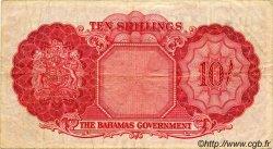 10 Shillings BAHAMAS  1953 P.14a TB à TTB