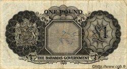 1 Pound BAHAMAS  1953 P.15c TB