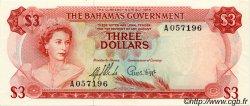 3 Dollars BAHAMAS  1965 P.19a pr.NEUF