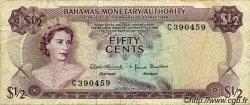 50 Cents BAHAMAS  1968 P.26a TB