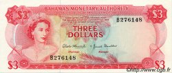3 Dollars BAHAMAS  1968 P.28a pr.NEUF