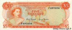 5 Dollars BAHAMAS  1968 P.29a SUP