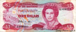 3 Dollars BAHAMAS  1984 P.44a TTB