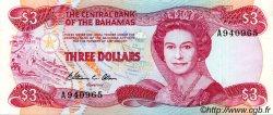 3 Dollars BAHAMAS  1984 P.44a SUP+