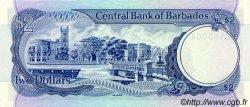 2 Dollars BARBADE  1980 P.30 SUP+