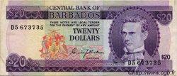 20 Dollars BARBADE  1973 P.34 TTB