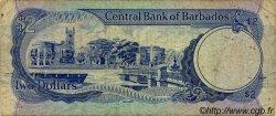 2 Dollars BARBADE  1986 P.36 B+