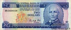 2 Dollars BARBADE  1986 P.36 TTB+