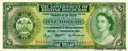 1 Dollar HONDURAS BRITANNIQUE  1961 P.28b pr.NEUF
