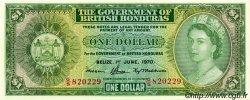 1 Dollar HONDURAS BRITANNIQUE  1970 P.28c NEUF