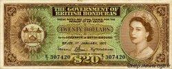 20 Dollars HONDURAS BRITANNIQUE  1971 P.32c TTB
