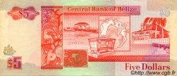 5 Dollars BELIZE  1991 P.53b TTB+