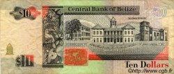 10 Dollars BELIZE  1991 P.54b TB+