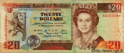 20 Dollars BELIZE  1990 P.55 B+