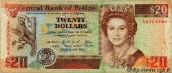 20 Dollars BELIZE  1990 P.55 B+