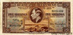 5 Shillings BERMUDES  1937 P.08a TB