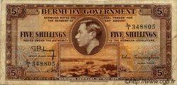 5 Shillings BERMUDES  1937 P.08b TB