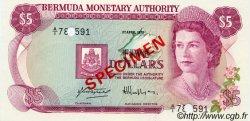 5 Dollars BERMUDES  1978 P.29s NEUF