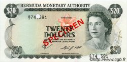 20 Dollars BERMUDES  1978 P.31s NEUF