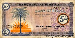 5 Shillings BIAFRA  1967 P.01 TB+