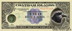 2 Dollars ILES CHATHAM  1999 P.-- NEUF