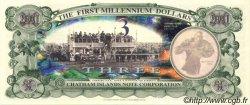 3 Dollars ILES CHATHAM  2001 P.-- NEUF
