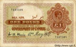 1 Pound CHYPRE  1937 P.24 TTB